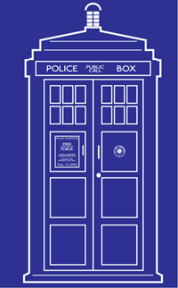 This blueprint of the TARDIS from Doctor Who was created for a laser engraver. Details are simplified, but strong enough to clearly show the spirit of the subject.